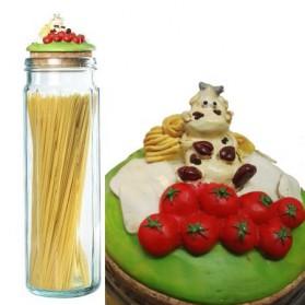 Spaghettipot met koe en italiaanse vlag Paolo Chiari