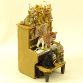 Speeldoosje poezen op piano Happy Birthday