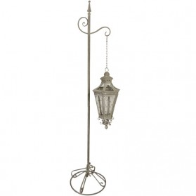Stalen hangende lantaarn - met standaard - 175cm hoog