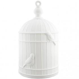 Tafellamp in vorm van vogelkooi - keramiek 113pml6