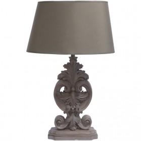 Tafellamp met ornamenten - polyresin - grijs - aged - 43.8x43.8x68cm