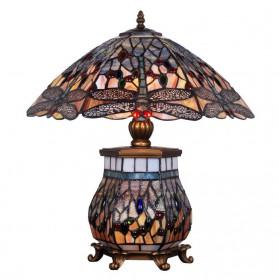 Tiffany stijl tafellamp in vorm van paddestoel 121ft