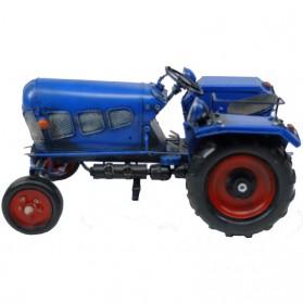 Blauwe tractor blikken woondecoratie