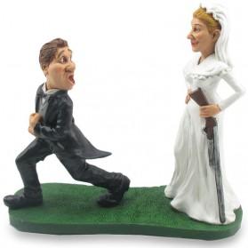 Trouw met me - funny wedding beeldje Warren Stratford 9002