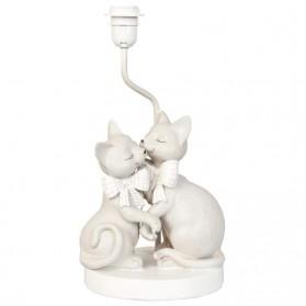 Verliefde poezen lamp met kap wit clayre and eef