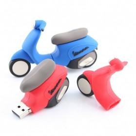 Vespa scooter 8gb USB stick rood geel en blauw