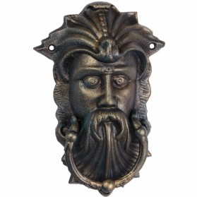 Viking hoofd op gietijzeren deurklopper 23lx