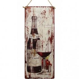 Vino rosa luxe decoratie bordje rode wijn 275sn