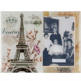 Glazen fotolijstje van Clayre and Eef vintage uitstraling Parijs