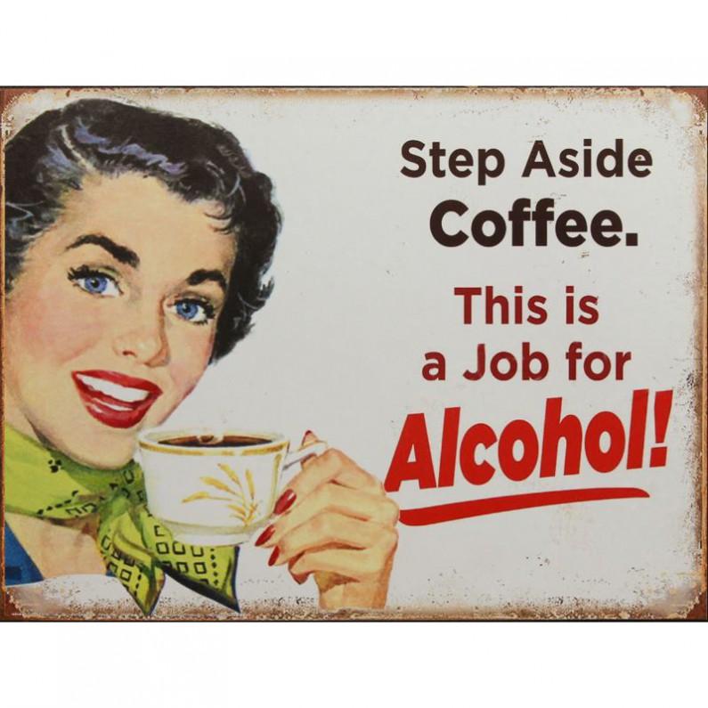 Vintage koffie - alcohol decoratie bordje 755sn