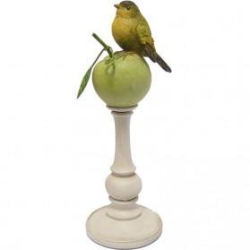 Vogel op appel beeldje