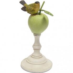 Appel met vogeltje klein beeldje