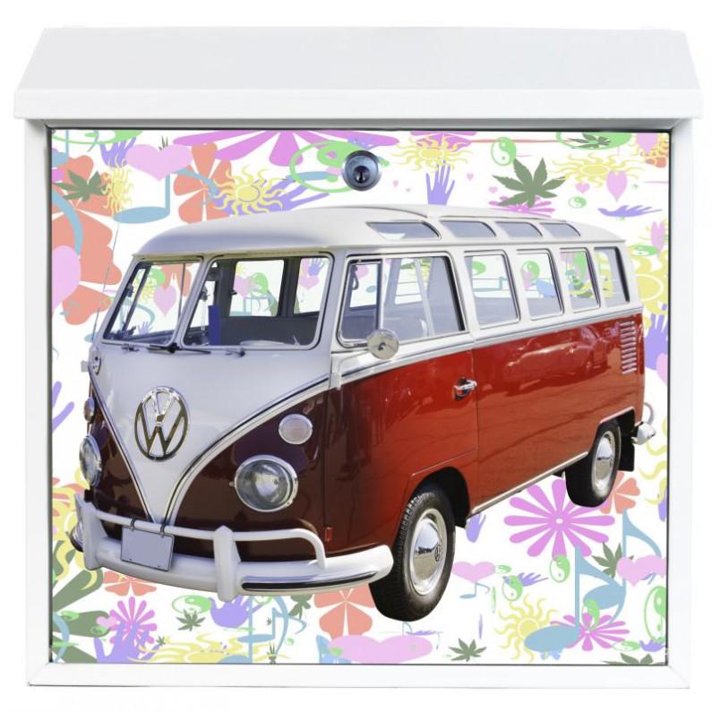 Volkswagen bus op stalen brievenbus - ook eigen foto mogelijk