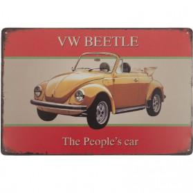 Volkswagen Kever blikken decoratie bordje Clayre and Eef