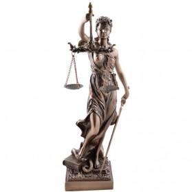 Vrouwe Justitia beeldje bronskleurig 2381807