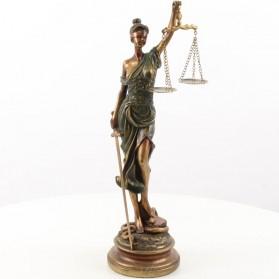 Vrouwe justitia – beeldje- polyresin – advocaat – 19x15.1x52.9cm