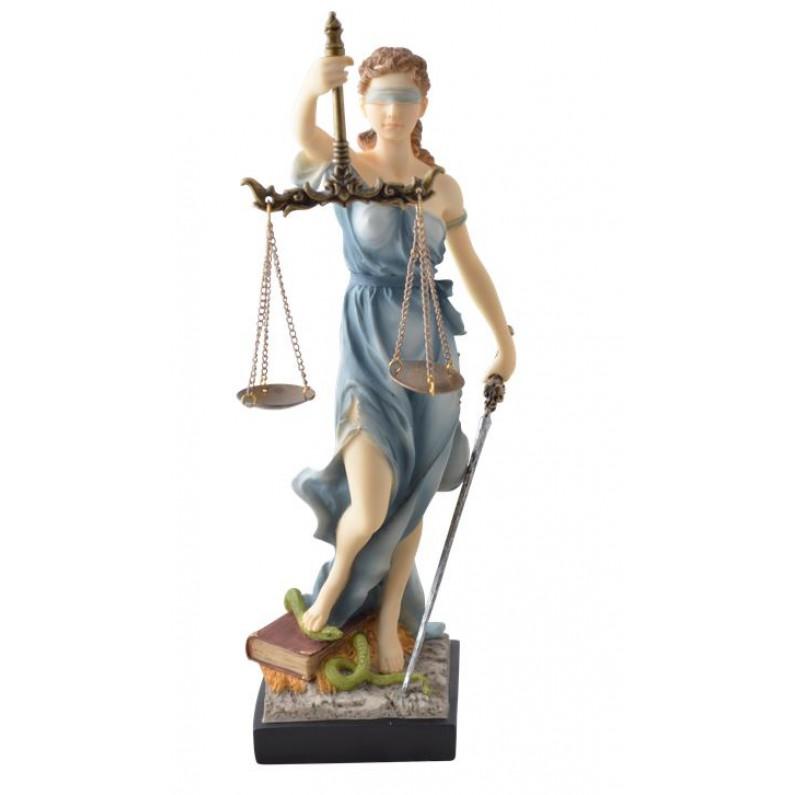 Vrouwe justitia beeldje van polystone 7123-807gov