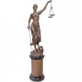 Vrouwe Justitia bronzen beeld 190 centimeter