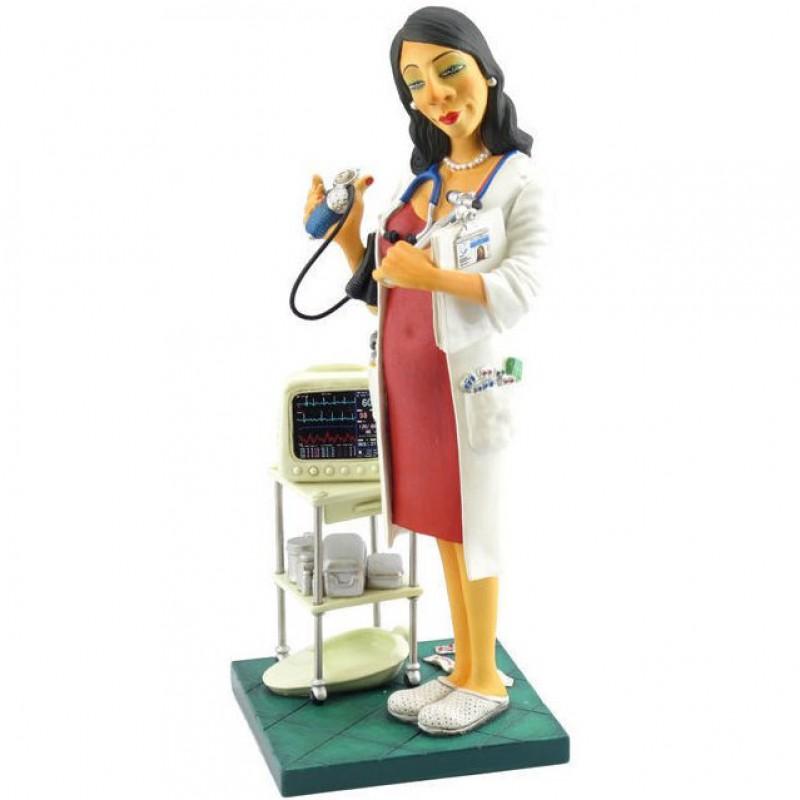 beeldje vrouwelijke huisarts dokter forchino