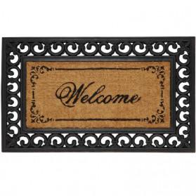Welcome deurmat van rubber en kokos 130cecm