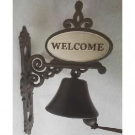 Welcome - gietijzeren bel - gietijzer - 23x14x40cm