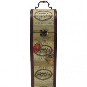 Decoratieve kist voor wijnfles - wijnfleshouder