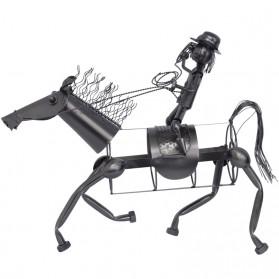Paard met berijder wijnfleshouder