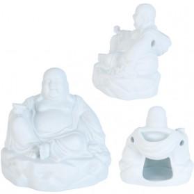 Wit keramieken geurbrander in vorm van boeddha 2550ec6