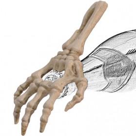 Witte gietijzeren flesopener in vorm van skelet hand 050gn