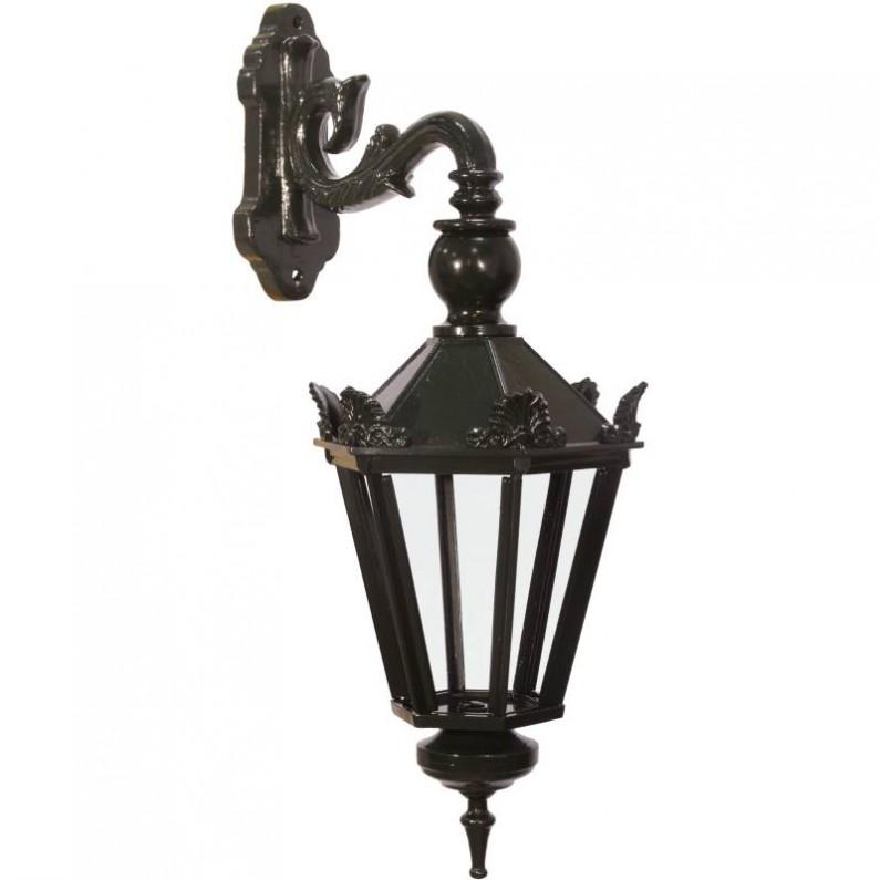 Zeshoekige lantaarn voor aan de muur - in de tuin