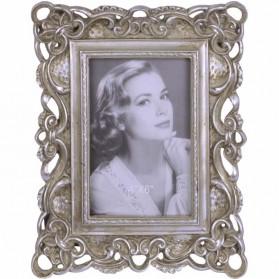 Bewerkt fotolijstje in vintage stijl - zilverkleurig
