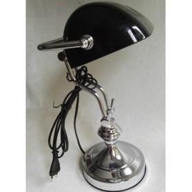Metalen  notaris  bankier  lamp  zwarte  kap