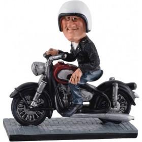 Beeldje  biker  motor  rijder  vintage  Warren  Stratford