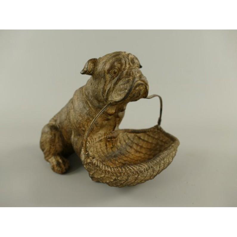 bulldog beeldje notenschaaltje maddeco