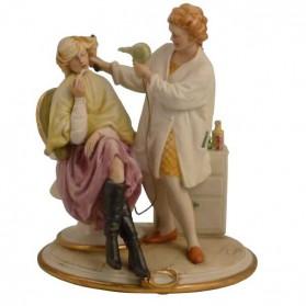 Kapster beeldje van Capodimonte porselein b516