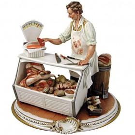 Slager beeldje van capodimonte porselein 636