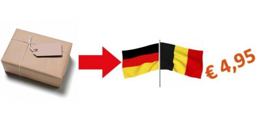 Binnenkort verzendkosten Belgie en Duitsland ook 4.95