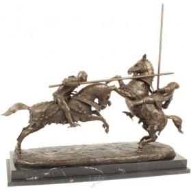 bronzen beeld ridders