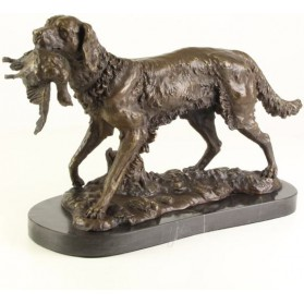 bronzen beeld jachthond maddeco