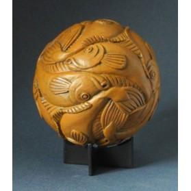 beeld sphere fish m.c escher