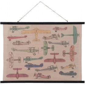 wandkaart vliegtuigen Clayre and Eef