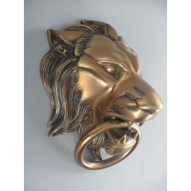 Messing deurklopper leeuw groot formaat maddeco