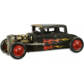 Blikken model  hot  rod  auto  beeldje  blik