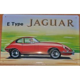 Jaguar E-type wandbord metaal maddeco