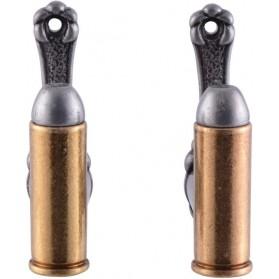 metalen  wandhaken  kogel  munitie  3 wandhaken  goudkleurig