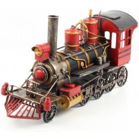 Grote decoratieve stoom locomotief metaal maddeco
