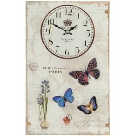 Wandklok  6KL0264  Clayre & Eef  vlinder  glas