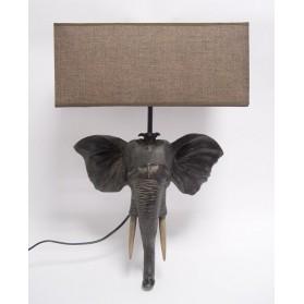 Wandlamp olifant polyresin lamp met kap