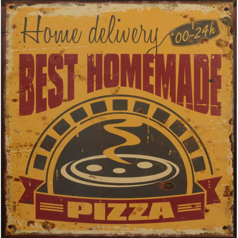 Pizza best in town horeca decoratie bordje 863sn - Decoratie pizzeria ...