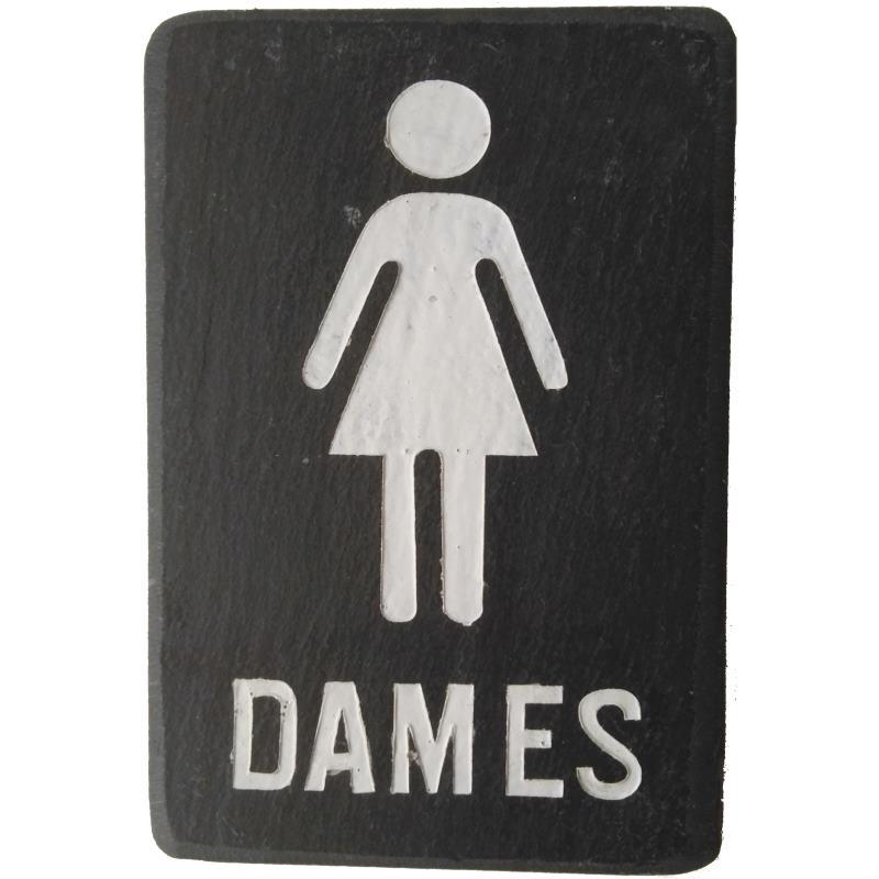 Ladies gietijzer bordje voor dames toilet - Originele toiletdecoratie ...